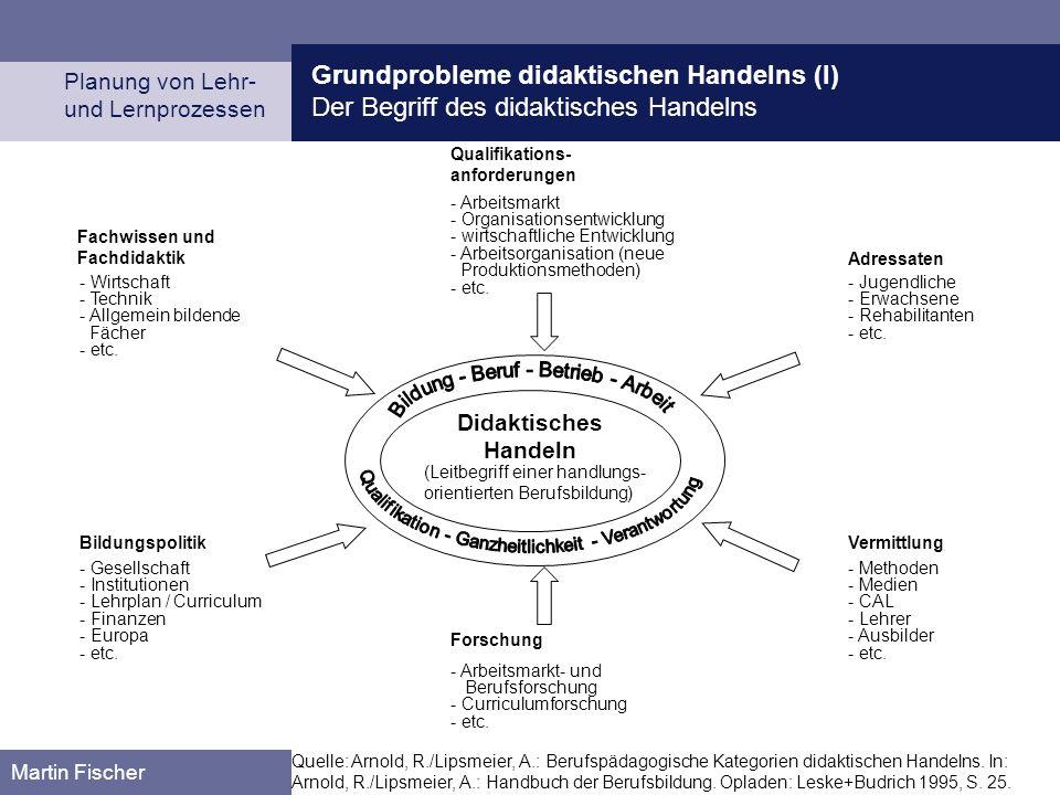 Grundprobleme didaktischen Handelns (I)