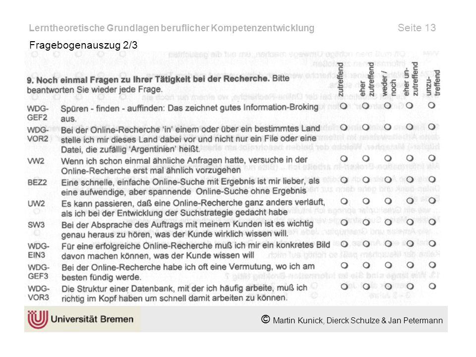 Lerntheoretische Grundlagen beruflicher Kompetenzentwicklung Seite 13