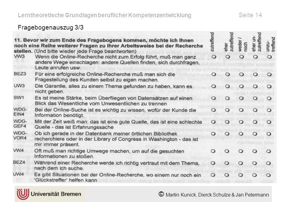 Lerntheoretische Grundlagen beruflicher Kompetenzentwicklung Seite 14