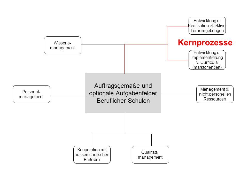 Kernprozesse Auftragsgemäße und optionale Aufgabenfelder