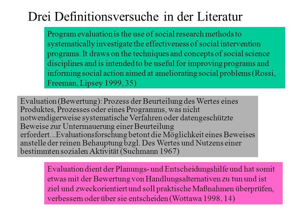 Drei Definitionsversuche in der Literatur