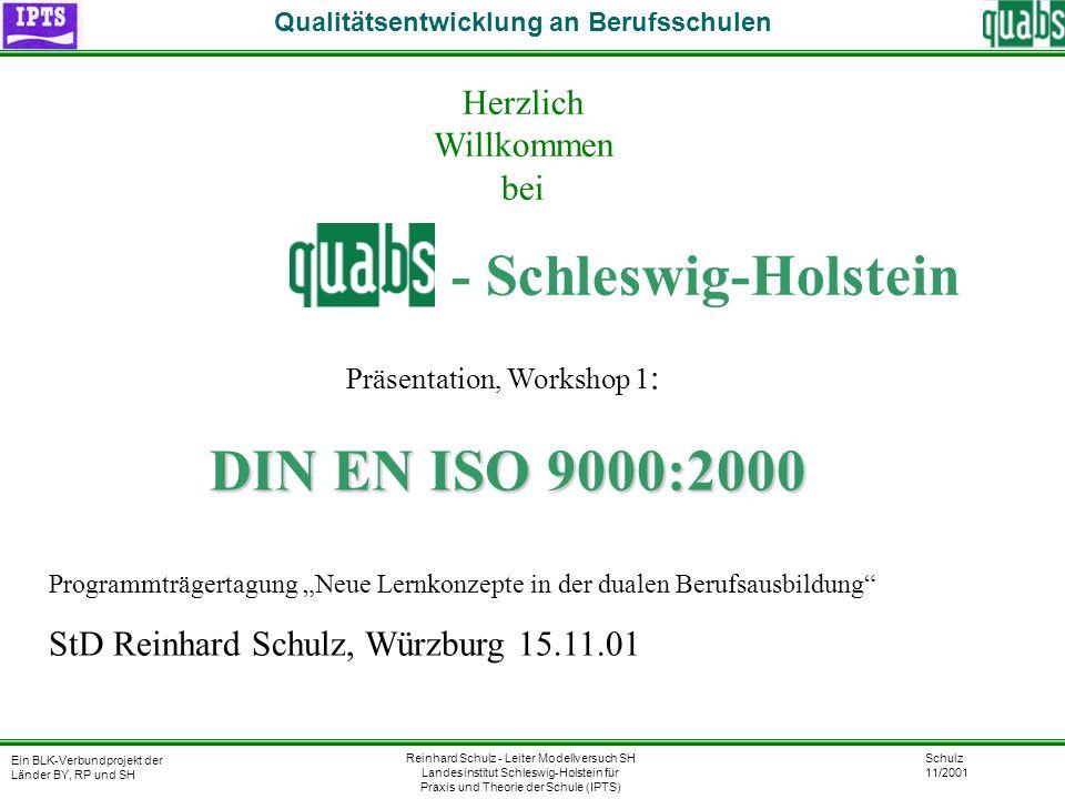 - Schleswig-Holstein Herzlich Willkommen bei DIN EN ISO 9000:2000