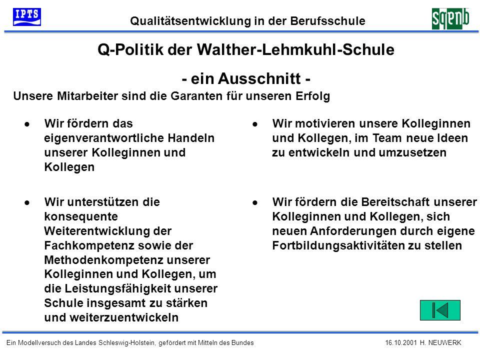 Q-Politik der Walther-Lehmkuhl-Schule