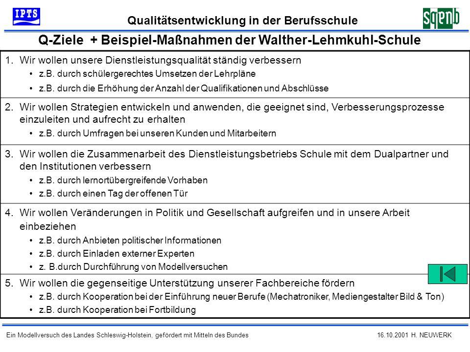 Q-Ziele + Beispiel-Maßnahmen der Walther-Lehmkuhl-Schule