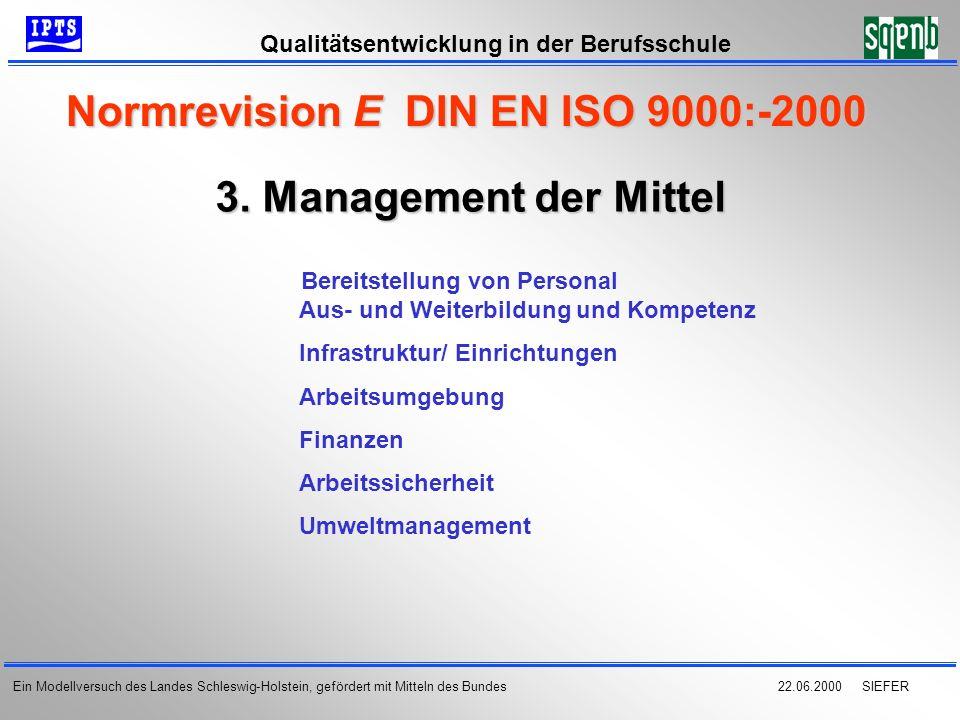 Normrevision E DIN EN ISO 9000:-2000