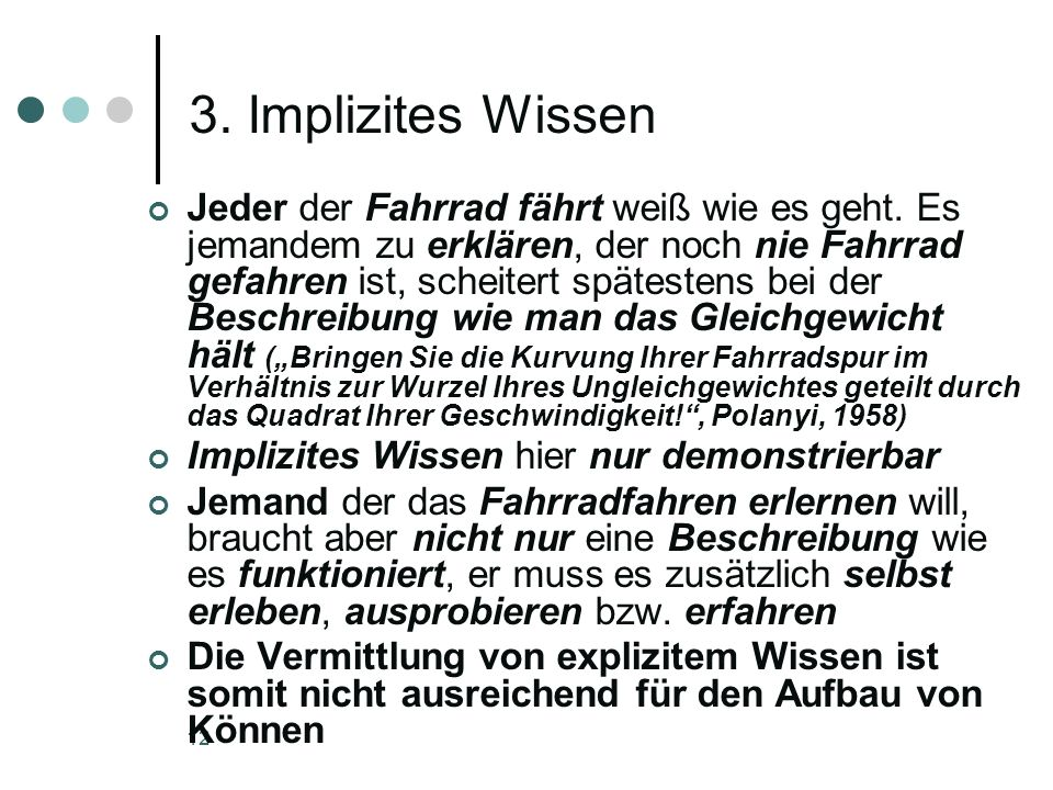 3. Implizites Wissen