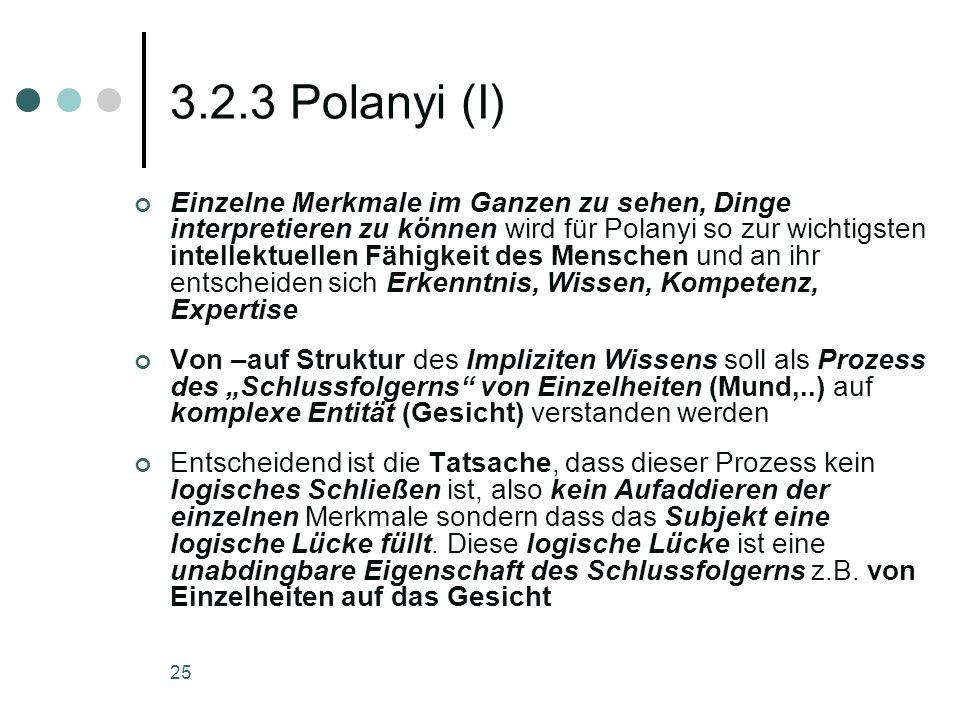 3.2.3 Polanyi (I)