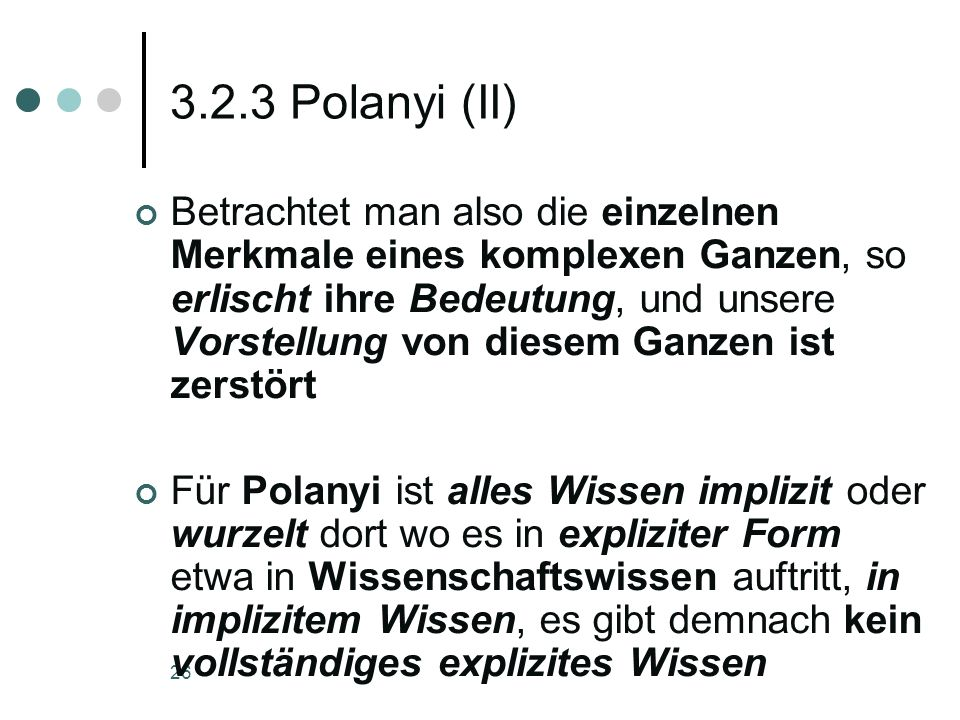 3.2.3 Polanyi (II)