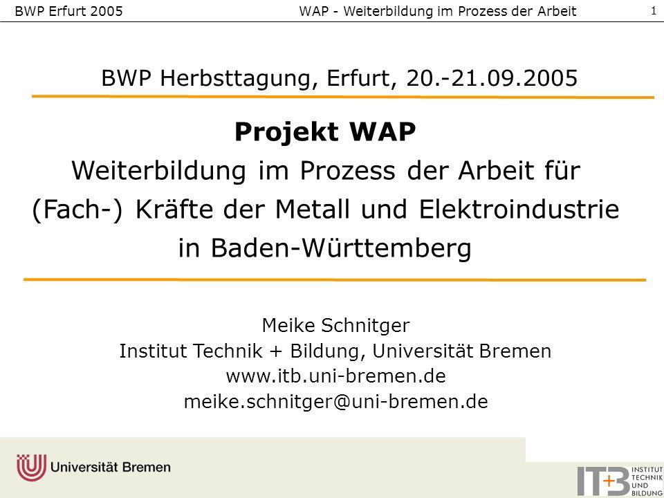BWP Herbsttagung, Erfurt, 20.-21.09.2005