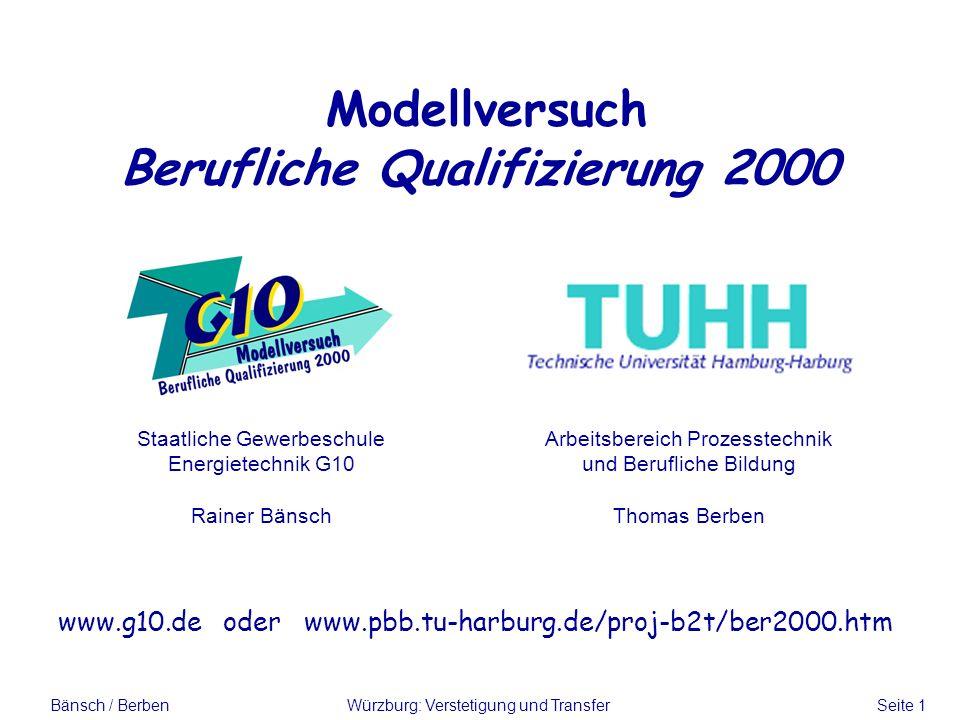Modellversuch Berufliche Qualifizierung 2000