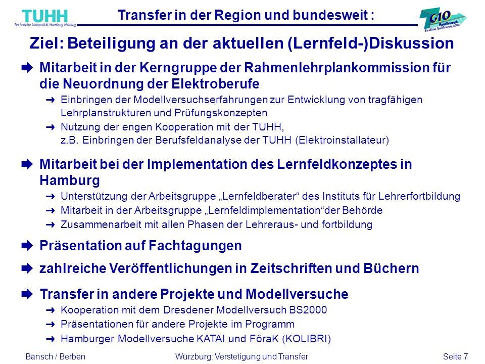 Transfer in der Region und bundesweit :