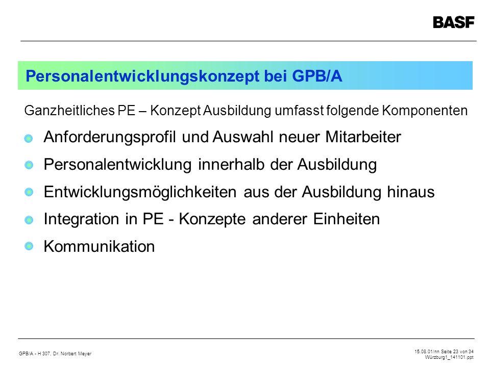 Personalentwicklungskonzept bei GPB/A