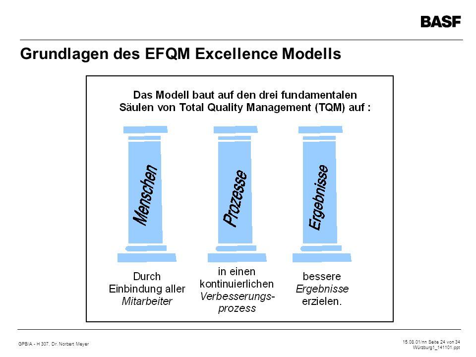 Grundlagen des EFQM Excellence Modells