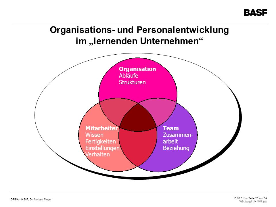 """Organisations- und Personalentwicklung im """"lernenden Unternehmen"""