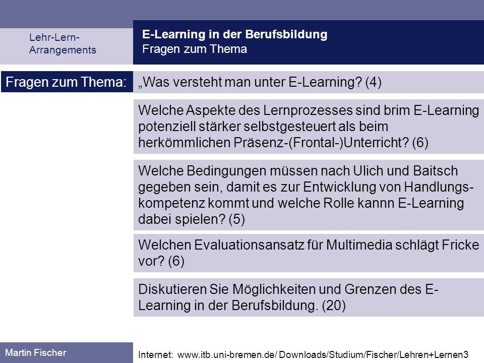"""""""Was versteht man unter E-Learning (4)"""