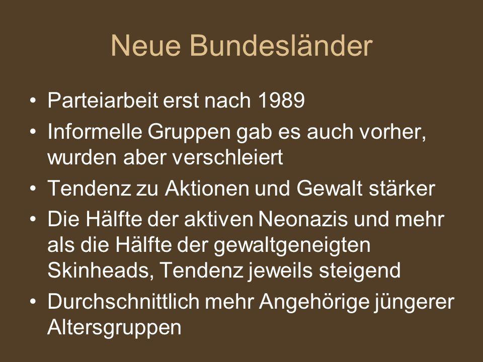 Neue Bundesländer Parteiarbeit erst nach 1989