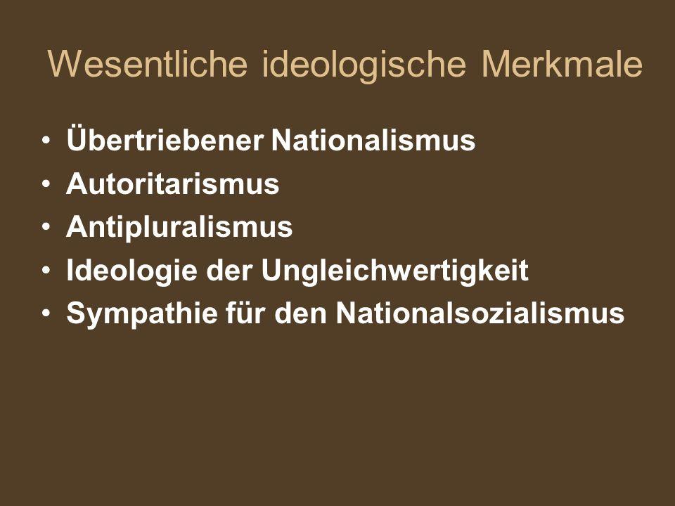Wesentliche ideologische Merkmale