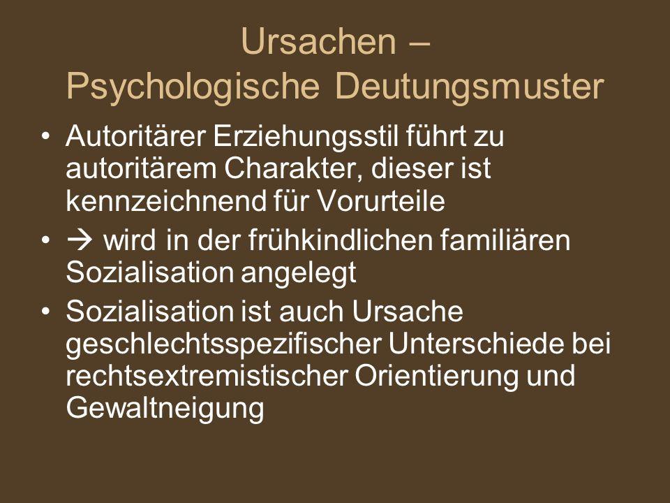 Ursachen – Psychologische Deutungsmuster