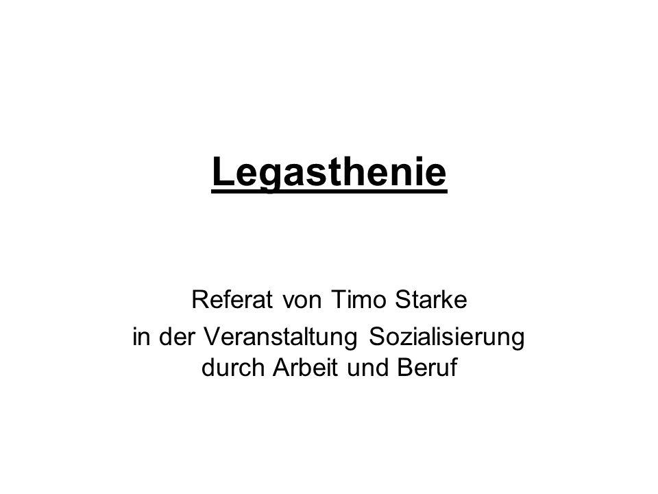 Legasthenie Referat von Timo Starke