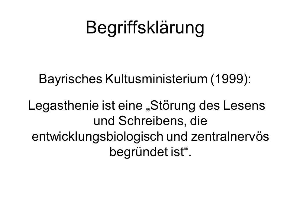 Bayrisches Kultusministerium (1999):