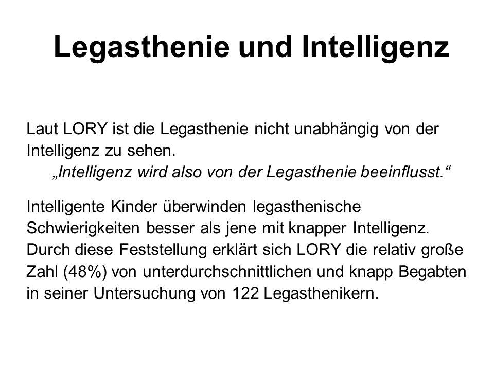 Legasthenie und Intelligenz