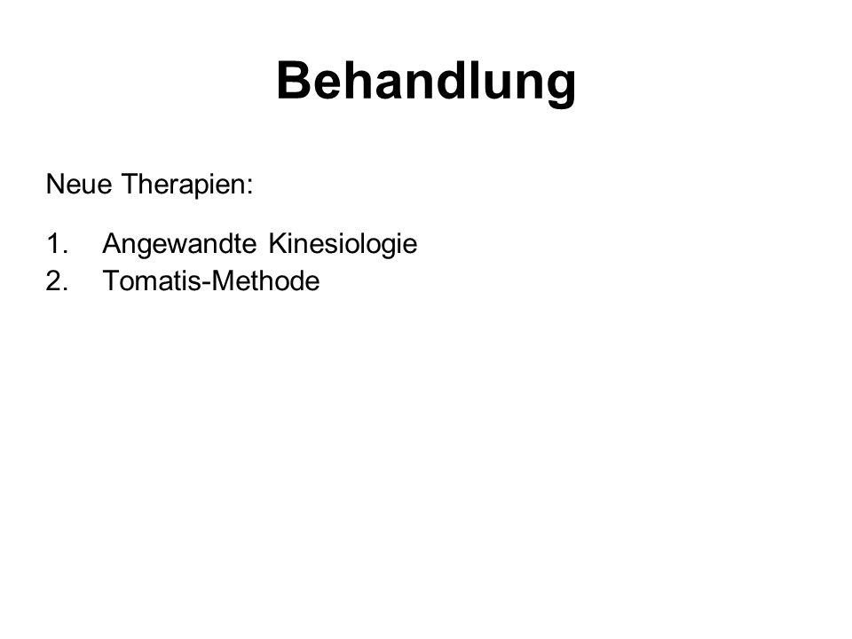 Behandlung Neue Therapien: Angewandte Kinesiologie Tomatis-Methode
