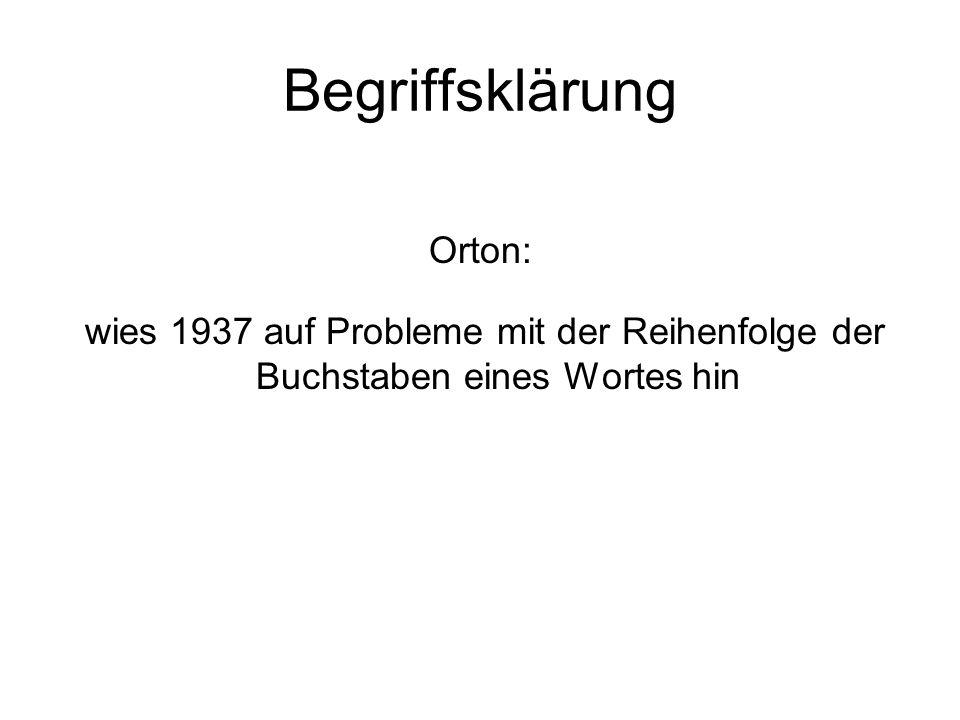 Begriffsklärung Orton: