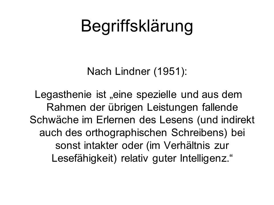 Begriffsklärung Nach Lindner (1951):