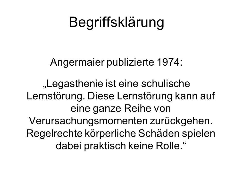 Angermaier publizierte 1974: