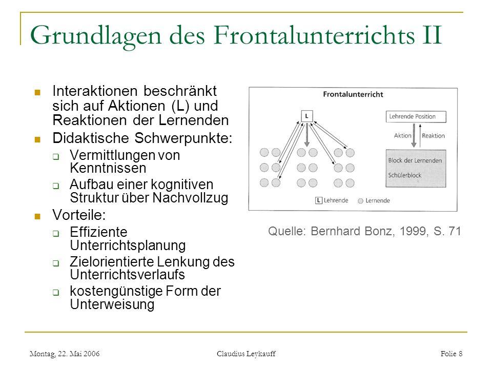 Grundlagen des Frontalunterrichts II