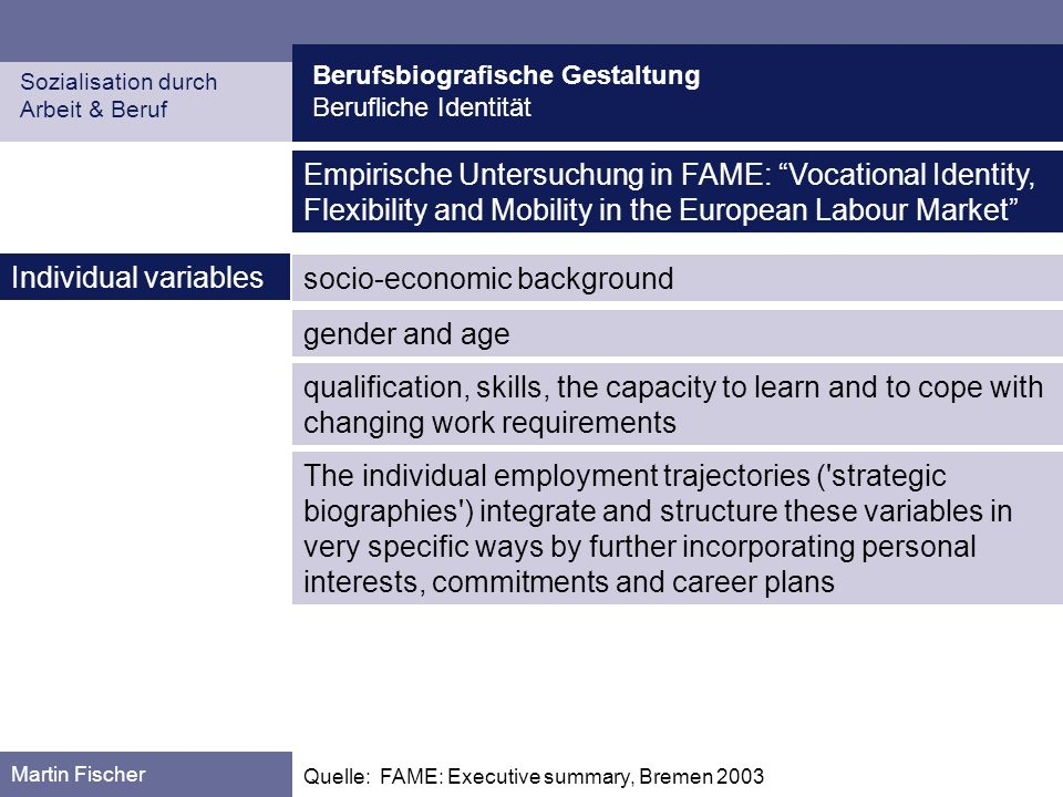 socio-economic background