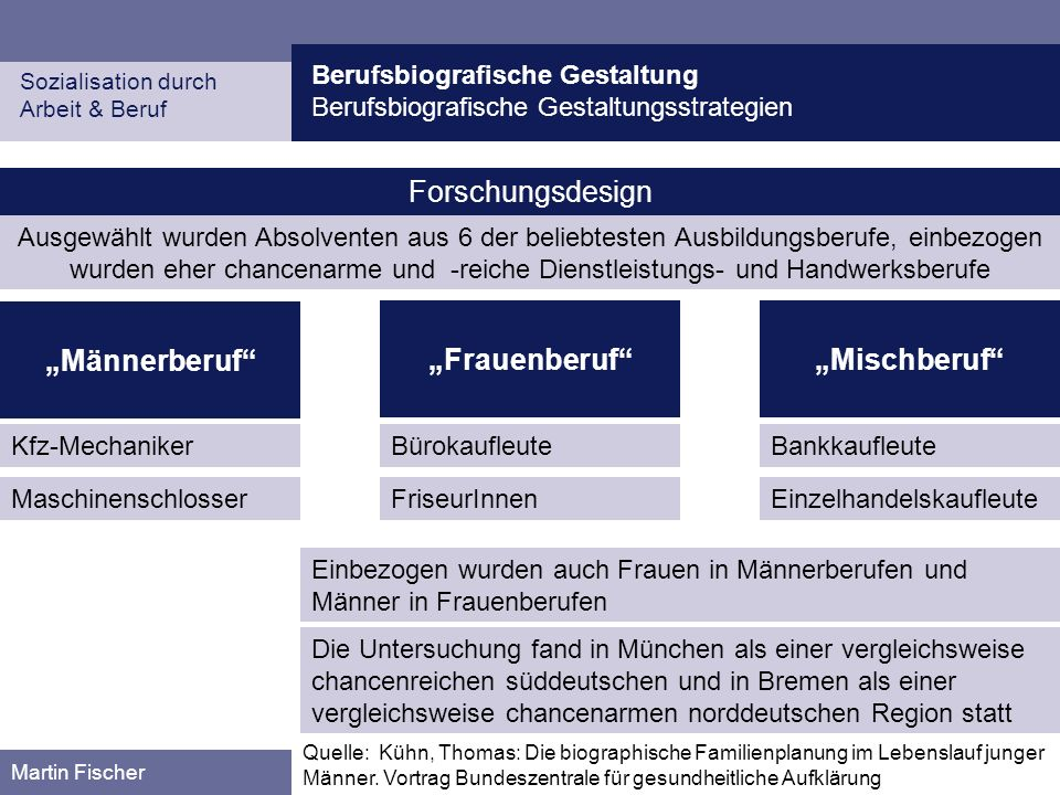 """""""Männerberuf """"Frauenberuf """"Mischberuf"""
