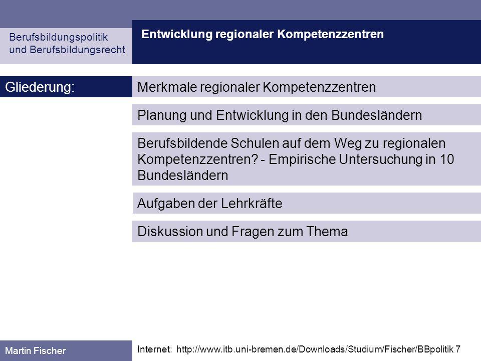 Merkmale regionaler Kompetenzzentren