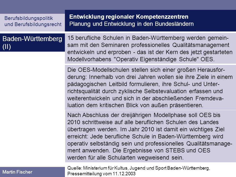 Baden-Württemberg (II)