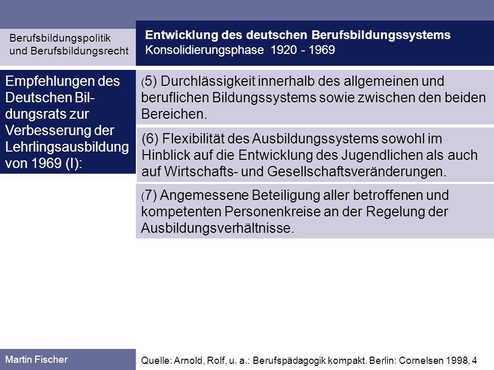 Entwicklung des deutschen Berufsbildungssystems