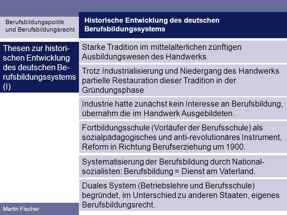 Historische Entwicklung des deutschen Berufsbildungssystems