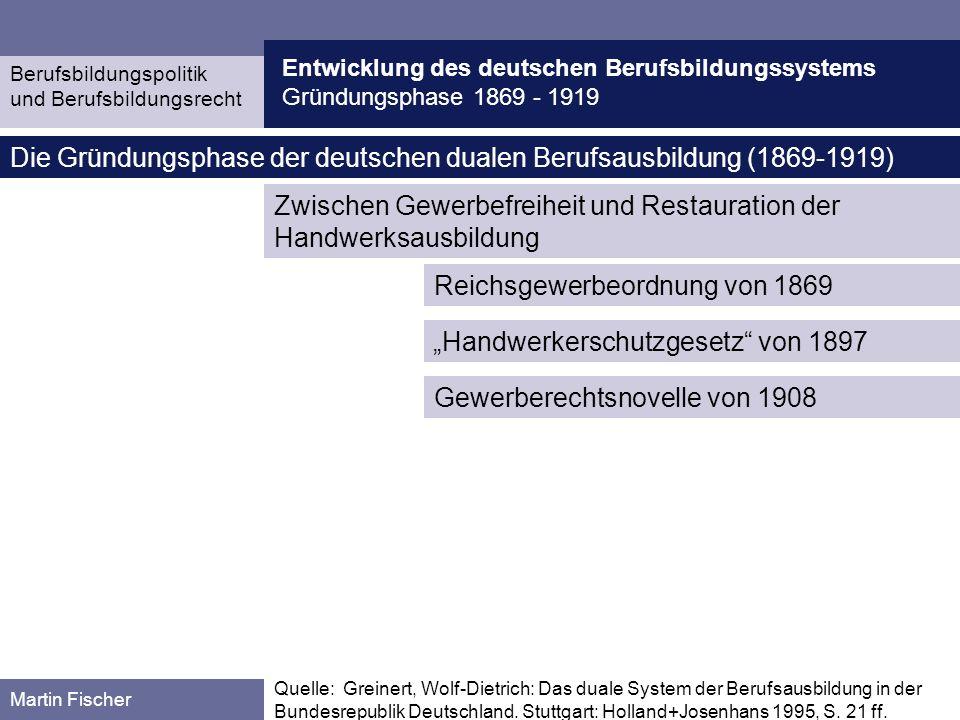 Die Gründungsphase der deutschen dualen Berufsausbildung (1869-1919)