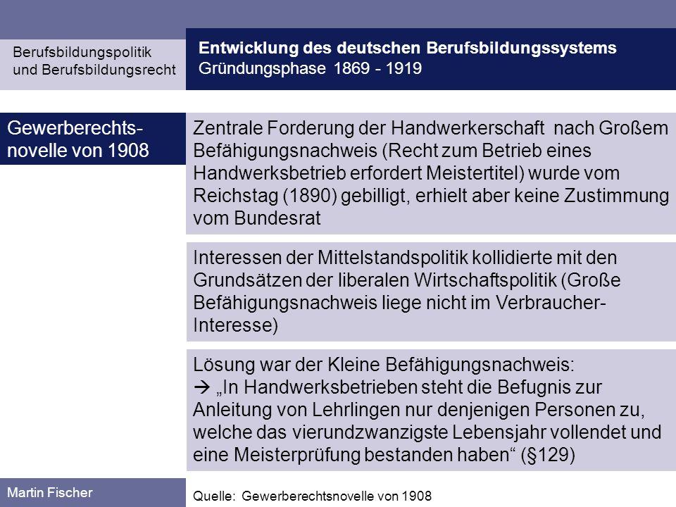 Gewerberechts-novelle von 1908