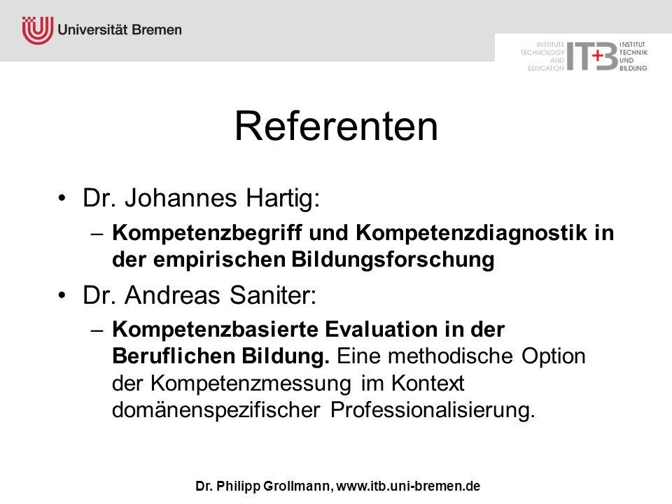 Dr. Philipp Grollmann, www.itb.uni-bremen.de