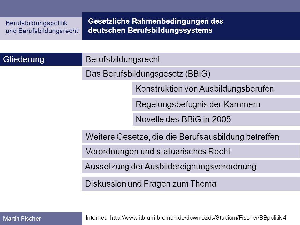 Das Berufsbildungsgesetz (BBiG)