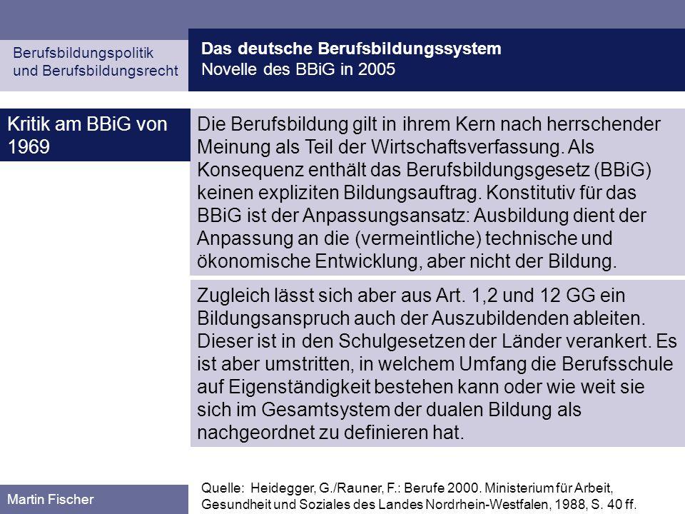 Das deutsche Berufsbildungssystem