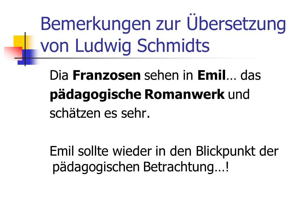 Bemerkungen zur Übersetzung von Ludwig Schmidts