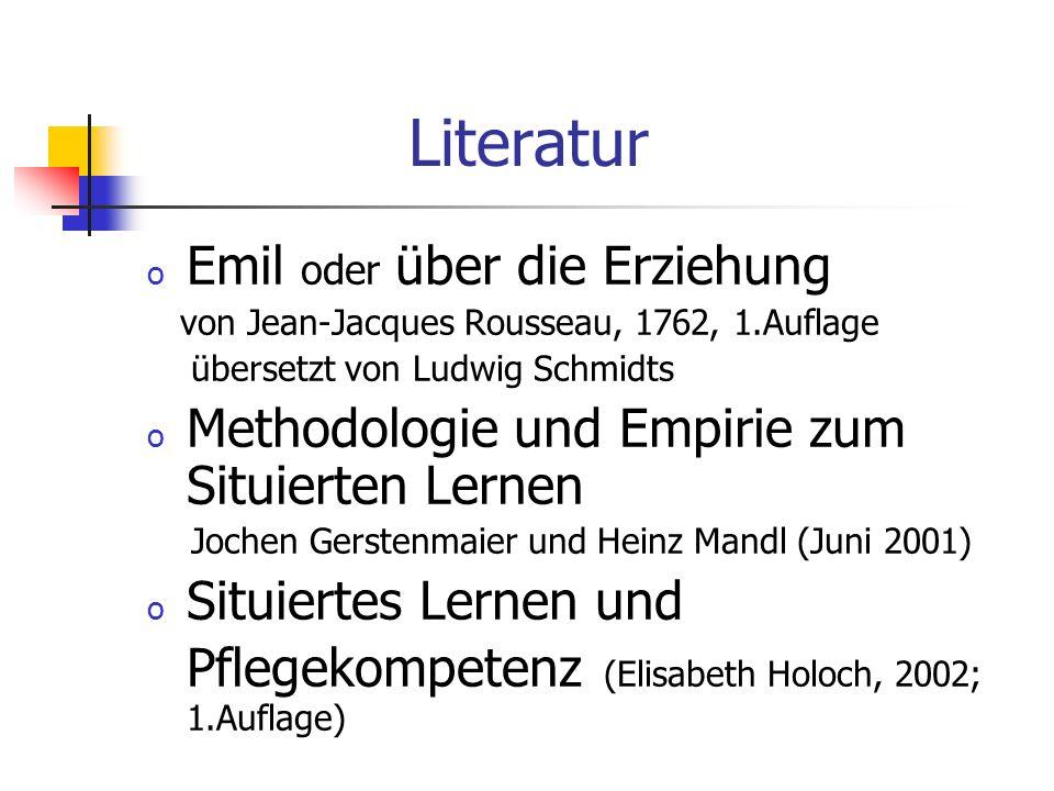 Literatur Emil oder über die Erziehung