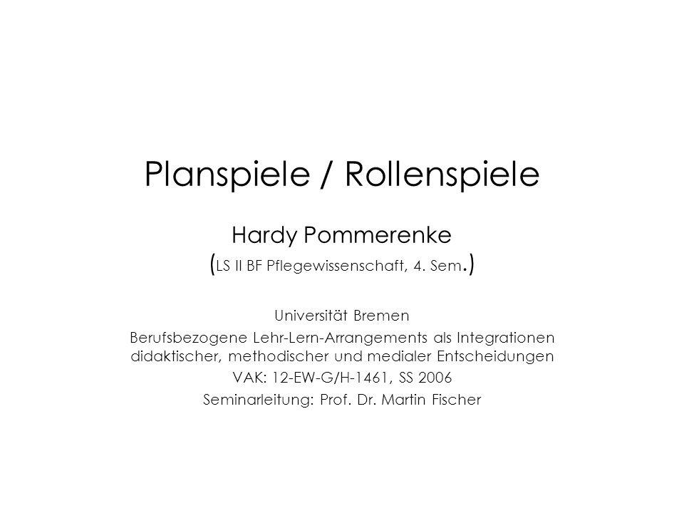 Seminarleitung: Prof. Dr. Martin Fischer