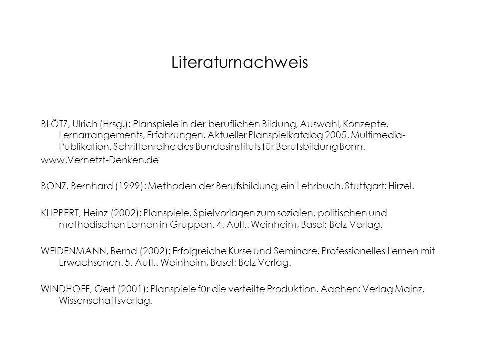 Literaturnachweis