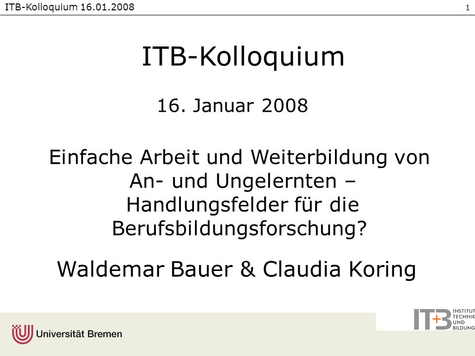Waldemar Bauer & Claudia Koring