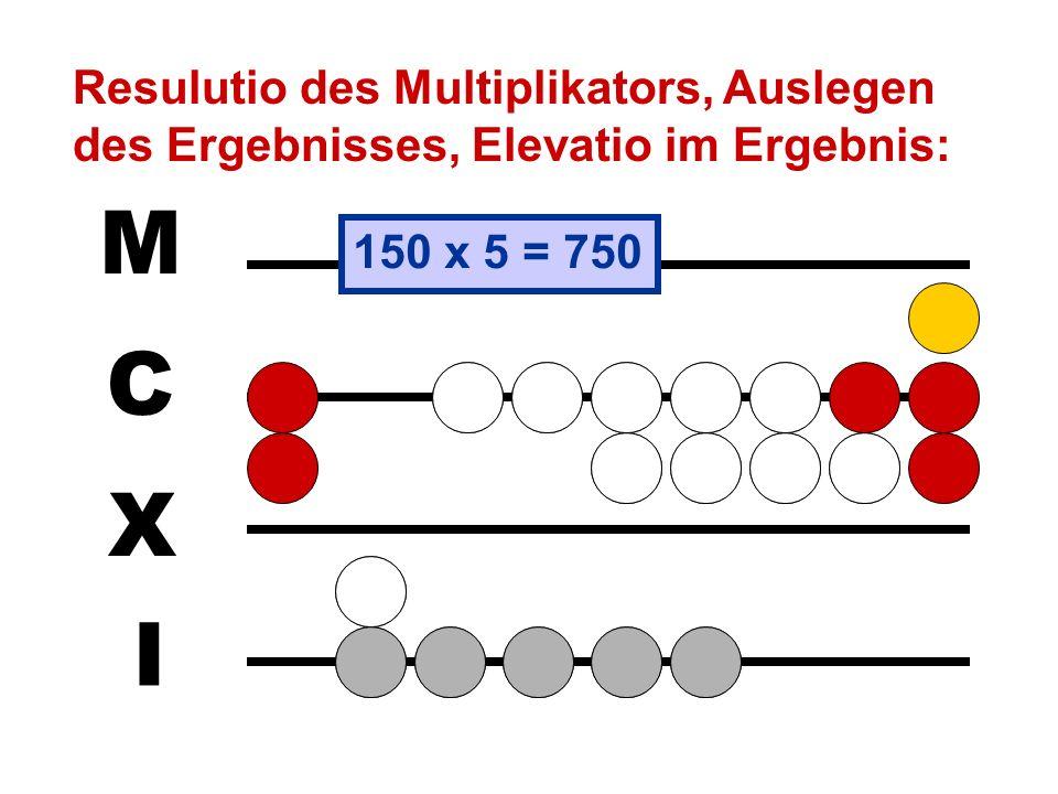 Resulutio des Multiplikators, Auslegen des Ergebnisses, Elevatio im Ergebnis: