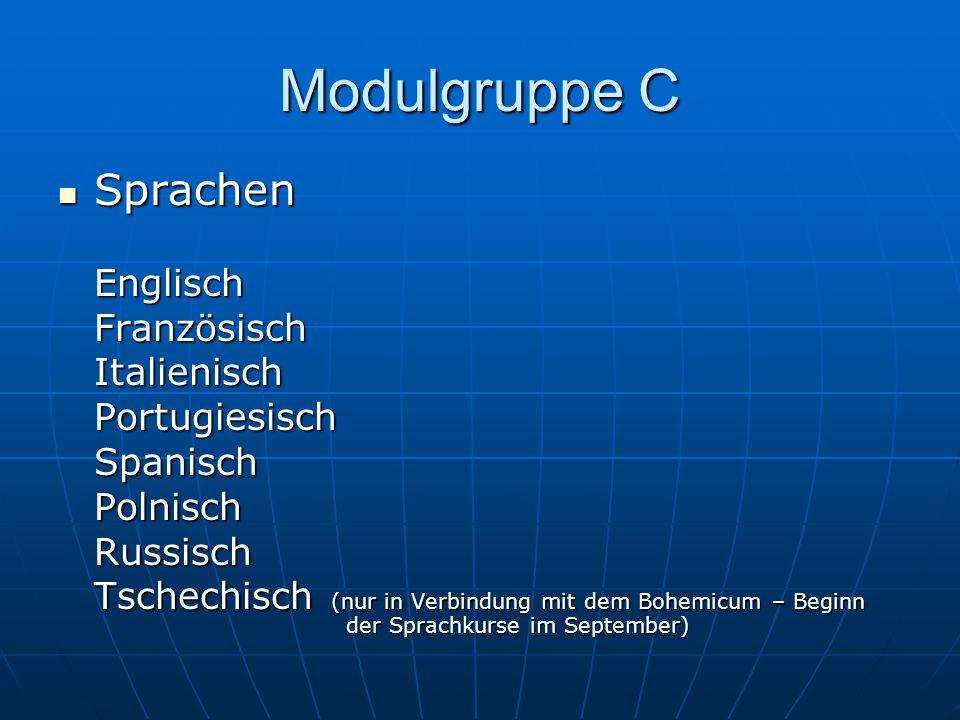 Modulgruppe C Sprachen Englisch Französisch Italienisch Portugiesisch