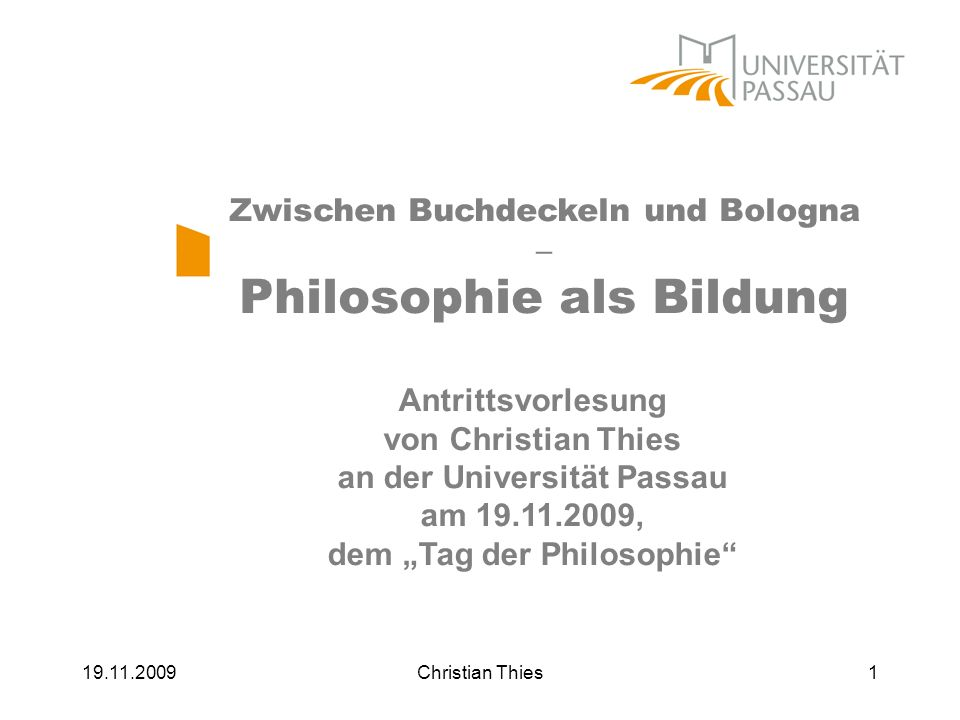 Philosophie als Bildung