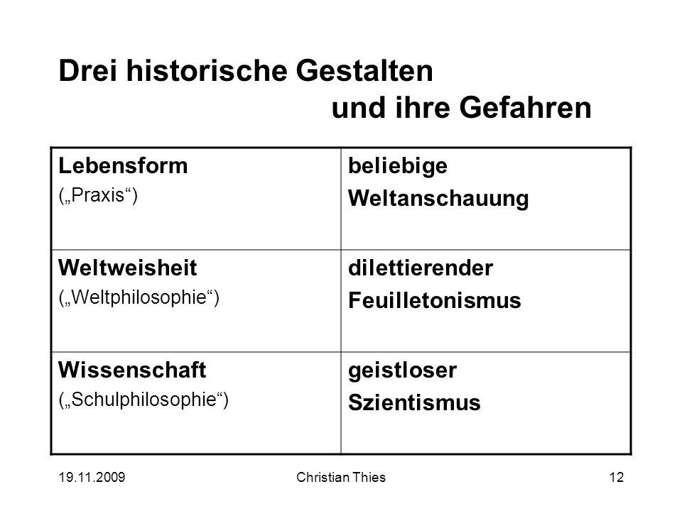 Drei historische Gestalten und ihre Gefahren